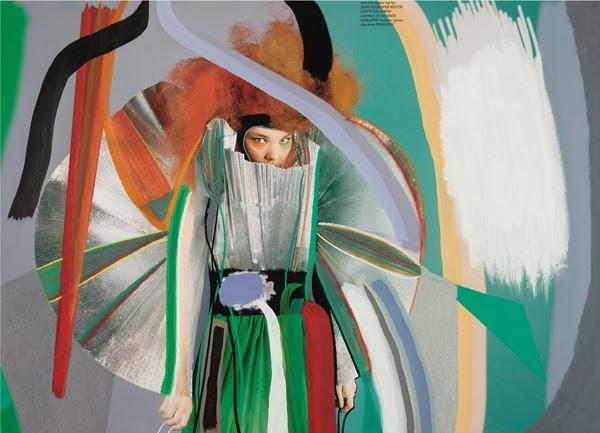 Editorial de moda protagonizada por Björk de Sam Falls   Stylefeelfree