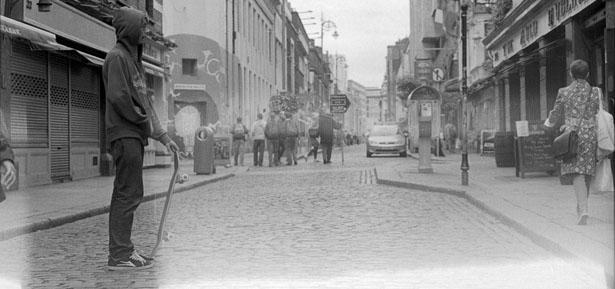 Retrato de Dublín en blanco y negro