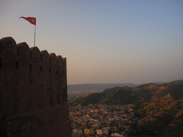 Brillante Jaipur durante el Diwali
