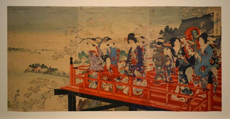 Obra: Toyohara Chikanobu, Panorama del lago Shinobazu desde el templo Kiyomizu| Stylefeelfree