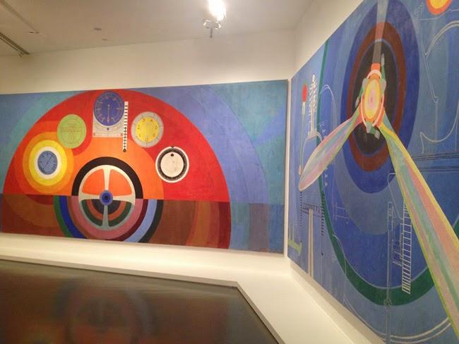 Sala de la exposición Les couleurs de l'abstraction sobre Sonia Delaunay en el museo de arte moderno de Paris | Stylefeelfree