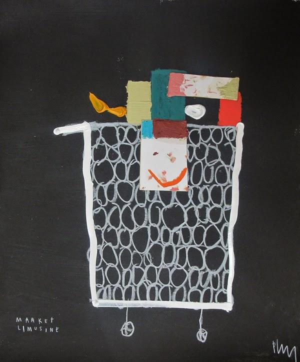 Obra de temática gastronómica del artista Edgar Plans en galería Miquel Alzueta   stylefeelfree