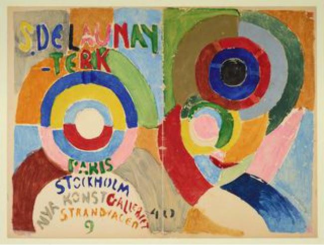 Portada del catálogo de la exposición de Estocolmo Autorretrato, 1916. Sonia Delaunay | Stylefeelfree
