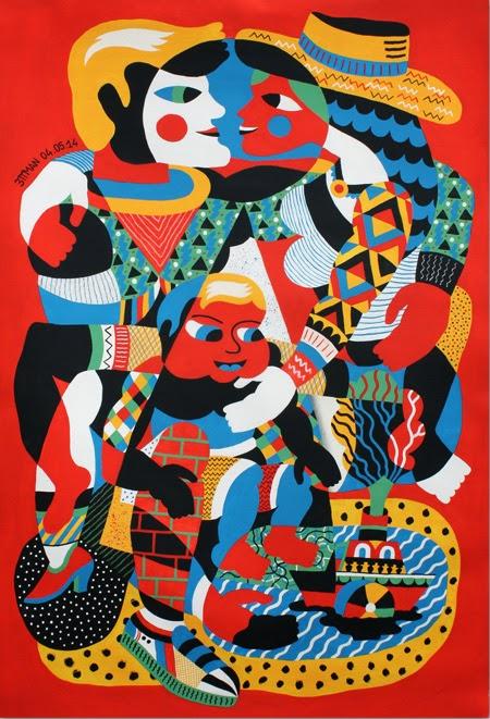 obra del artista 3ttman en la exposición haciéndome el loco en galería Celaya Brothers de México   stylefeelfree