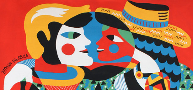 Detalle de obra obra del artista 3ttman en galería Celaya Brothers de México | stylefeelfree