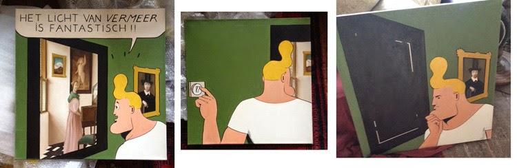 Cowboy Henk, en la galería Carolina Rojo, vuelve el cómic del revés
