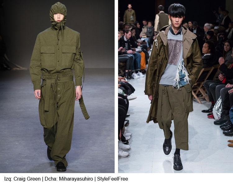 Tendencias moda hombre Otoño / Invierno 2016-17: VERDE MILITAR por StyleFeelFree magazine