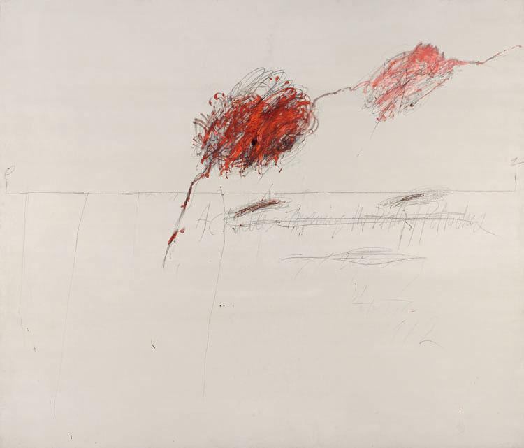 Cy Twombly, entre líneas en el Pompidou